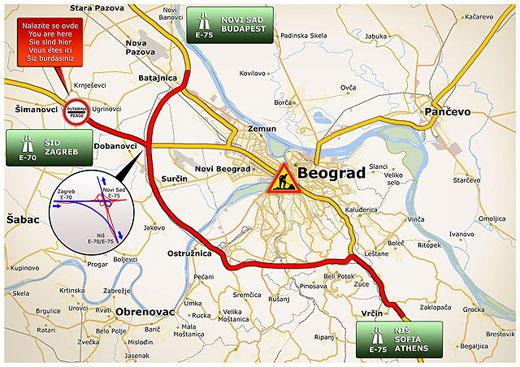 obilaznica oko beograda mapa Kako obilaznioko Beograda? obilaznica oko beograda mapa