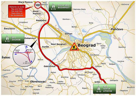 nova pazova mapa srbije Kako obilaznioko Beograda? nova pazova mapa srbije